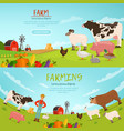 agribusiness banners vector image vector image