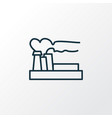 air pollution icon line symbol premium quality vector image