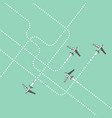 aircrafts tracking flat vector image