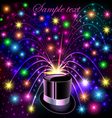 background festive bright shiny hat and bright glo vector image vector image