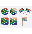 badges with South Africa flag vector image