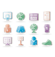 basketball and sport icons vector image vector image
