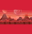 beautiful alien landscape vector image vector image