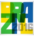 Brazil abstract background in color of flag vector image vector image
