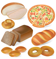 Bread and bakery set vector image vector image