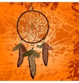 Bright vintage background with dream catcher vector image vector image
