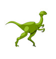 cartoon dinosaur icon vector image vector image