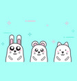 cartoon white animal character cute vector image