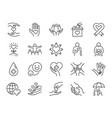 charity line icon set vector image