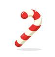 christmas candy cane santas stripes cane vector image