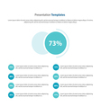 circle Presentation and infographic template vector image