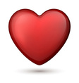 Classical red heart vector image
