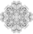 Colorless floral patterns with geometric elements vector image