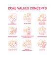 core values concept icons set