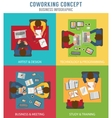 Coworking concept vector image