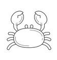 crab line icon vector image vector image