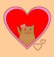 cute kitty vector image