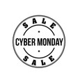cyber monday vintage stamp vector image