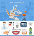dental services banner vector image vector image