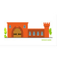 flat large fairy tale castle medieval vector image