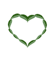 Fresh Green Leaves in A Beautiful Heart vector image vector image