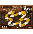 Game template with cave and bats vector image vector image