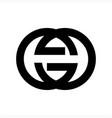 gg gsg geg initials geometric company logo vector image vector image