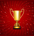 gold cup winner congratulations background vector image