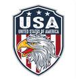head eagle head mascot logo flagusa america vector image vector image