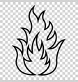 icon of fire vector image vector image