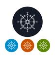 Icon ships wheel vector image