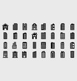 icons building set vector image vector image