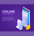 isometric online payment concept vector image