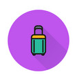 luggage icon on round background vector image