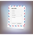 mail form to send a message from site vector image
