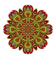 mandala doodle drawing colorful round ornament vector image vector image
