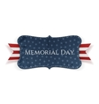 Memorial Day realistic Label and Ribbon vector image vector image