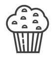 muffin line icon food and drink sweet sign vector image