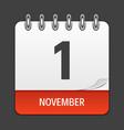 november 1 calendar daily icon vector image vector image