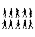 people walking on white background silhouette vector image vector image