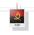 photo of angola flag vector image vector image