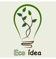 plant inside the light bulb vector image