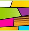 Pop art comic book strip background