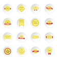 Retail label icons set vector image