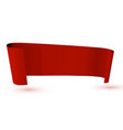 ribbon red banner on white background vector image vector image