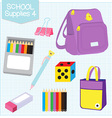 school supplies4 vector image vector image
