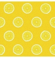 seamless pattern slices yellow lemons vector image vector image