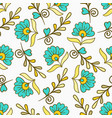Seamless pattern with yellow and blue modern vector image