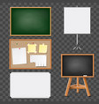 set of boards vector image vector image
