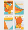 set of flyer templates brochures design editable vector image vector image